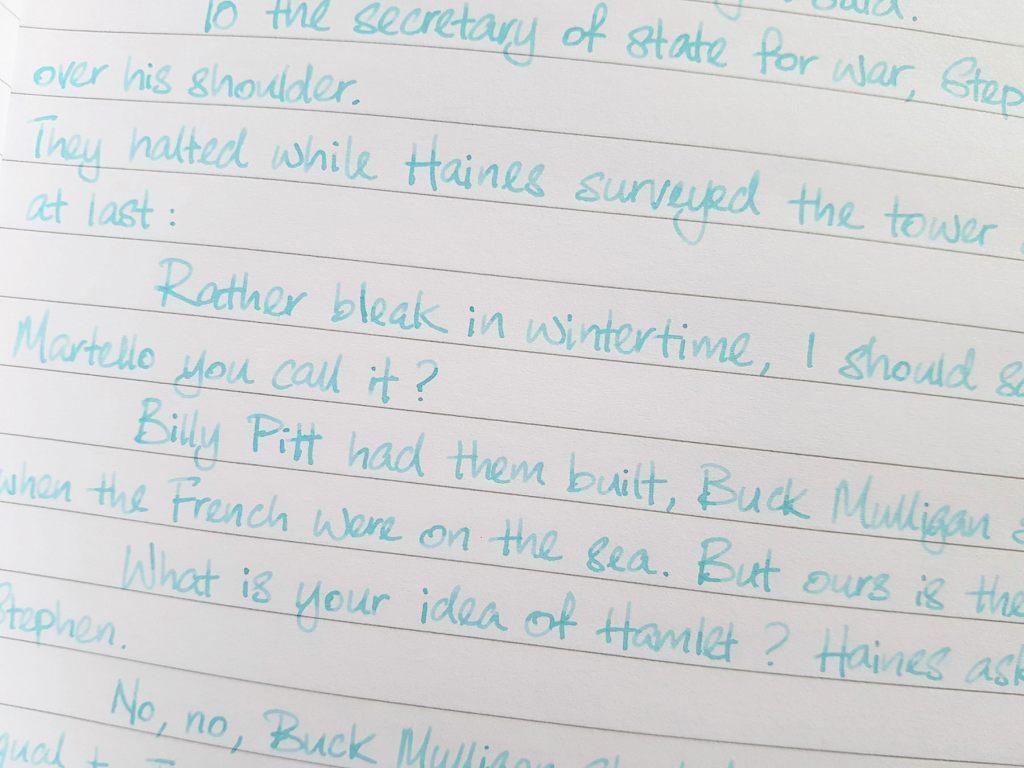 Writing sample of Ferris Wheel Press Three Steamboats ink on Rhodia notebook