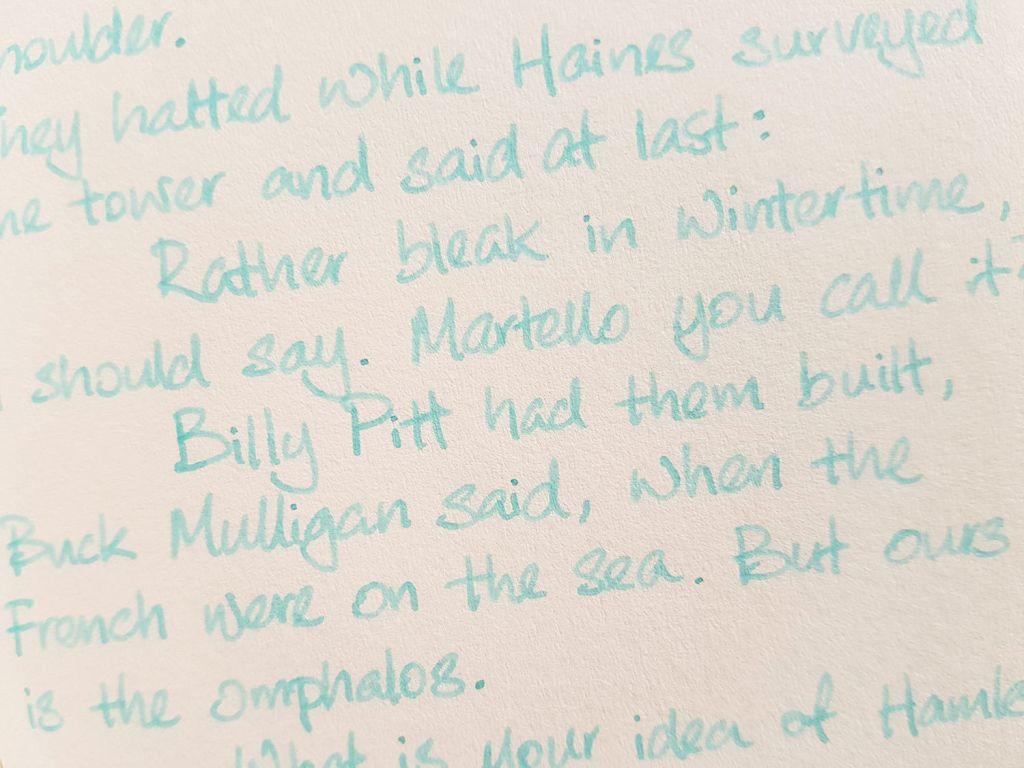 Writing sample of Ferris Wheel Press Three Steamboats ink on Yamamoto Ro-Biki notebook