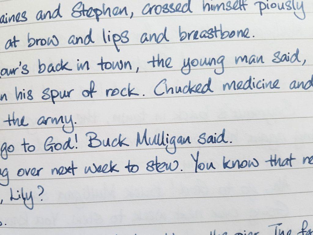 Writing sample of Lennon Tool Bar Yundoumuhua on Rhodia notebook