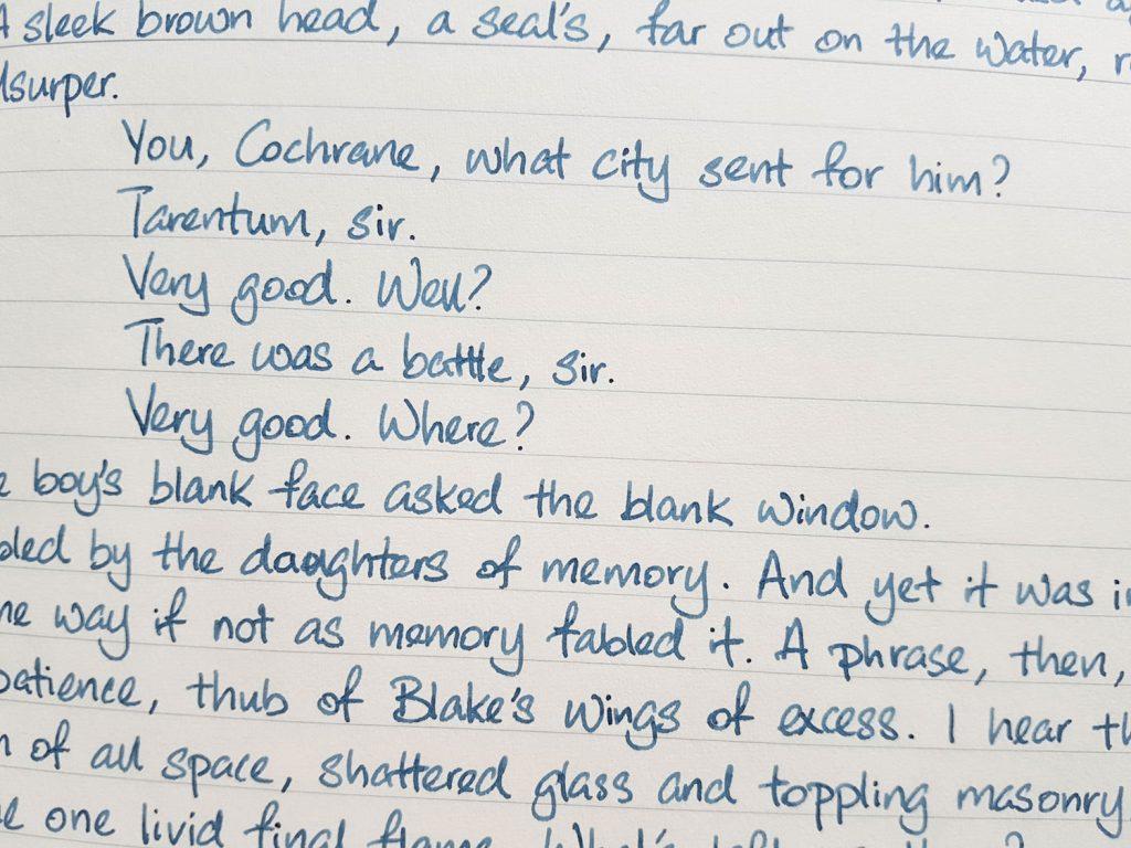 Writing sample of Lennon Tool Bar Yundoumuhua ink on Midori MD notebook